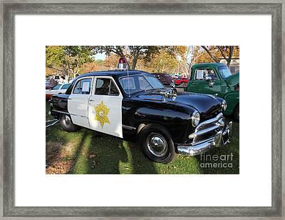 1949 Ford Police Car 5d26224 Framed Print