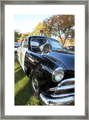 1949 Ford Police Car 5d26227 Framed Print by Wingsdomain Art and Photography