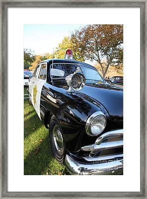 1949 Ford Police Car 5d26227 Framed Print
