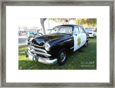 1949 Ford Police Car 5d26229 Framed Print by Wingsdomain Art and Photography