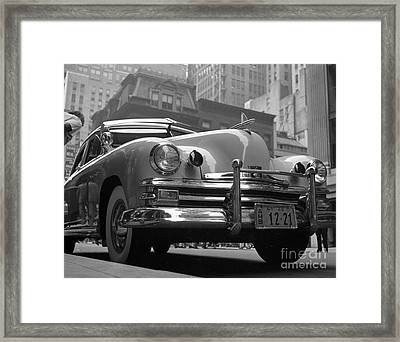1949 Kaiser Deluxe Modified To Serve As An Ambulance Framed Print by The Harrington Collection