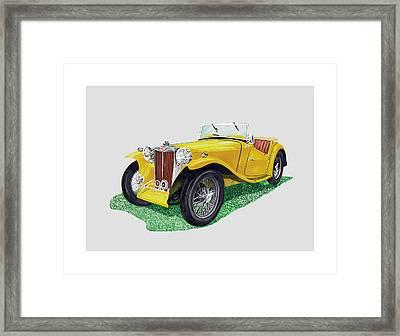 1949 M G T C Midget Framed Print