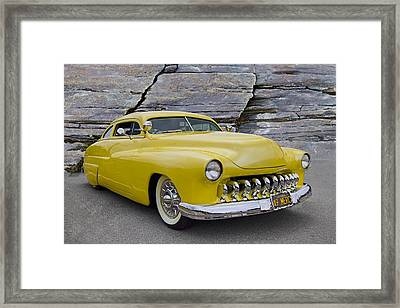 1949 Mercury Coupe Framed Print by Debra and Dave Vanderlaan