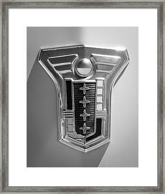 1949 Mercury Station Wagon Emblem Framed Print