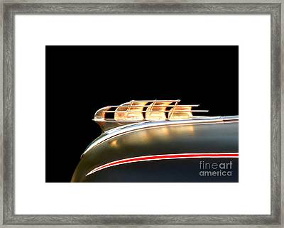 1949 Plymouth Schooner Hood Ornament Framed Print by Renee Trenholm