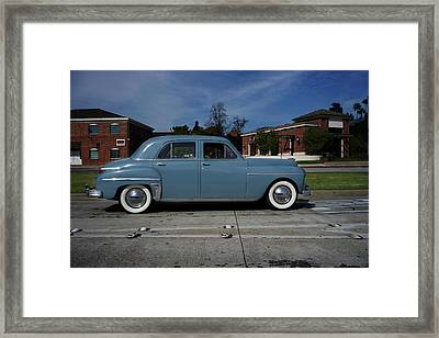 1949 Plymouth Framed Print by Shukis Lockwood