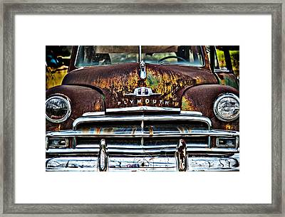 1949 Plymouth Framed Print by Thomas Kessler