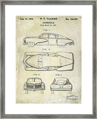 1949 Tucker Automobile Patent Drawing Framed Print by Jon Neidert
