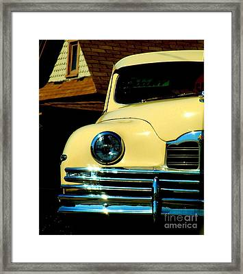 Framed Print featuring the photograph 1950 Yellow Packard by Janette Boyd
