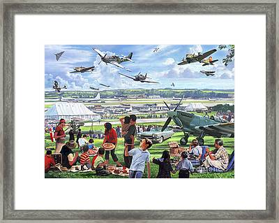 1950 Airshow Framed Print by MGL Meiklejohn Graphics Licensing