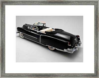 Framed Print featuring the photograph 1950 Black Cadillac Convertible by Gianfranco Weiss