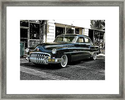 1950 Buick Framed Print by Victor Montgomery