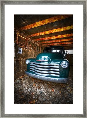1950 Chevy Truck Framed Print by Debra and Dave Vanderlaan