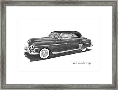 1950 Chrysler Newport Framed Print by Jack Pumphrey