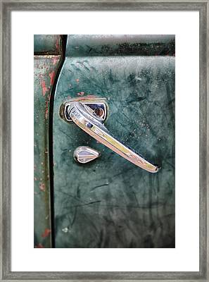 1950 Classic Chevy Pickup Door Handle Framed Print by Adam Romanowicz