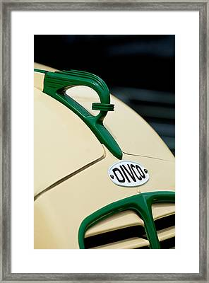 1950 Divco Milk Truck Hood Ornament Framed Print