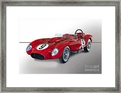 1950 Ferrari 250gt Testa Rossa 'studio' Framed Print