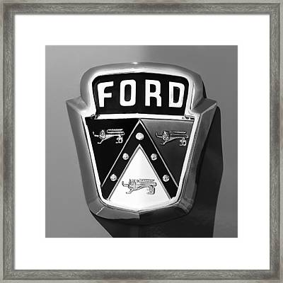 1950 Ford Custom Deluxe Station Wagon Emblem Framed Print