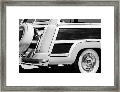 1950 Ford Custom Deluxe Station Wagon Rear End - Woodie Framed Print
