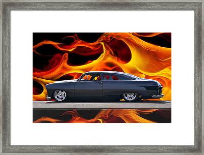 1950 Ford Custom Iv Framed Print by Dave Koontz