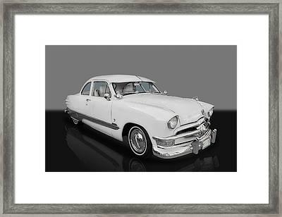 1950 Ford Custom V8 Framed Print by Frank J Benz