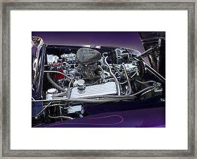 1950 Ford Mercury Engine Framed Print by Radoslav Nedelchev