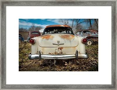 1950 Ford Sedan Rear Framed Print by Yo Pedro