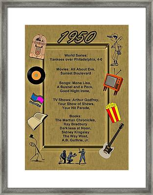 1950 Great Events Framed Print