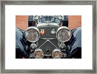 1950 Jaguar Xk120 Roadster Grille Framed Print by Jill Reger