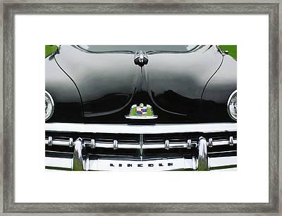 1950 Lincoln Cosmopolitan Henney Limousine Grille Emblem - Hood Ornament Framed Print by Jill Reger