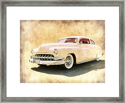 1950 Mercury Grunge Framed Print by Steve McKinzie
