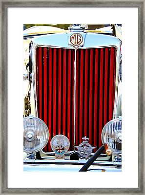 Vehicles Framed Print featuring the photograph 1950 Mg by Aaron Berg