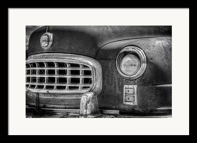 Monochrome Hot Rod Framed Prints