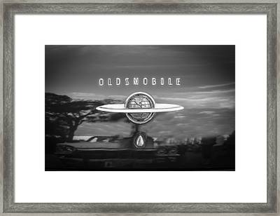 1950 Oldsmobile 88 Futurmatic Coupe Bw   Framed Print