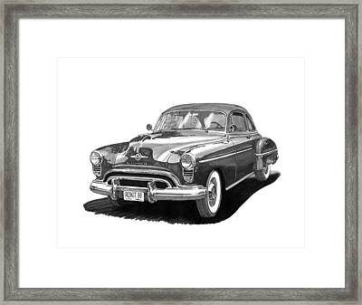Oldsmobile Rocket 88 Framed Print by Jack Pumphrey