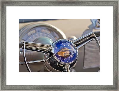 1950 Oldsmobile Rocket 88 Steering Wheel Framed Print by Jill Reger