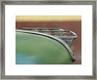 1950 Plymouth Hood Ornament - Image Art By Jo Ann Tomaselli Framed Print