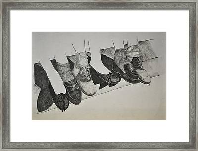 1950 Shoe Fad Framed Print by Glenn Calloway