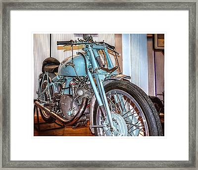 Framed Print featuring the photograph 1950 Vincent Tt Flash by Steve Benefiel