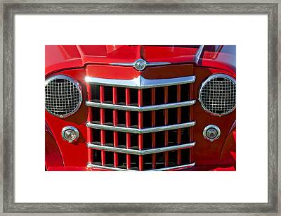 1950 Willys Jeepster Gtille Framed Print by Jill Reger