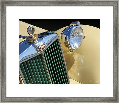 1950 Yellow Mg Grille Framed Print by Mark Steven Burhart