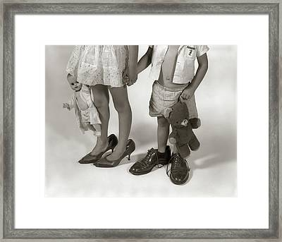 1950s 1960s Close-up Of Little Girl & Framed Print