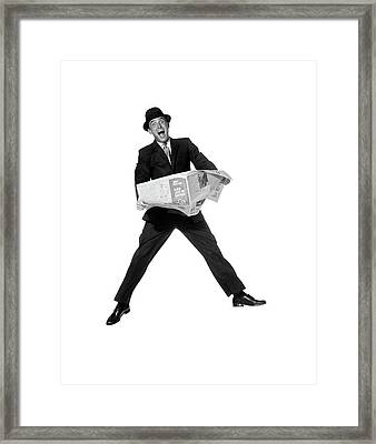 1950s 1960s Man In Business Suit Framed Print