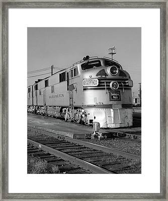 1950s 1960s Streamlined Burlington Framed Print