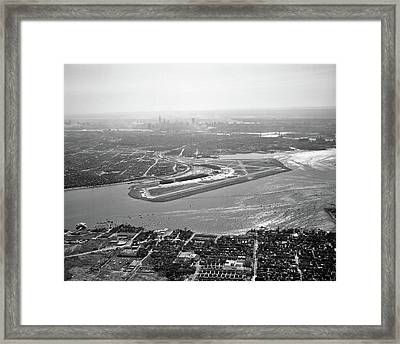 1950s Aerial Across Flushing Bay La Framed Print