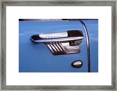 1950s Art Deco Style Door Handle Framed Print