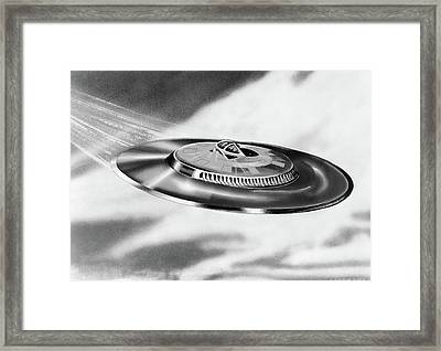 1950s Artists Conception Ufo Flying Framed Print