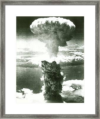 1950s Atomic Bomb Explosion Mushroom Framed Print