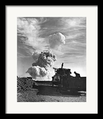 Artillery Gun Framed Prints