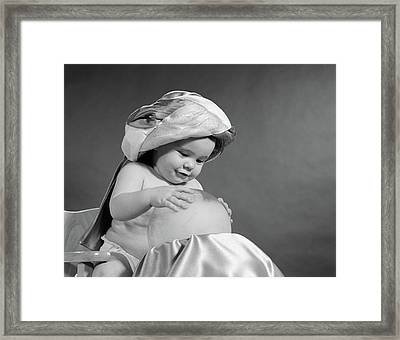 1950s Baby Dressed As Swami Turban Framed Print